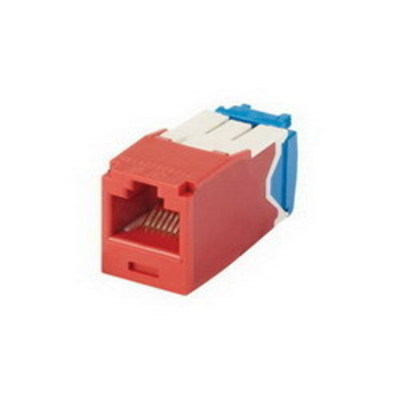 Panduit CJ6X88TGRD Panduit CJ6X88TGRD Mini-Com® TX6A™ 10Gig™ Category 6A RJ45 Jack Module with MaTriX Technology; 8P8C, Red