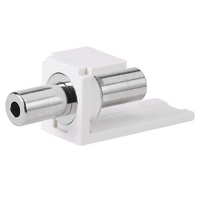 Panduit CM35MSCIWY Panduit CM35MSCIWY Mini-Com® 3.5-mm Stereo Coupler Module; 12 Volt, 1 Amp, Soldered/Pass-Through, ABS Housing, Zinc-Plated ABS Connector, Off White