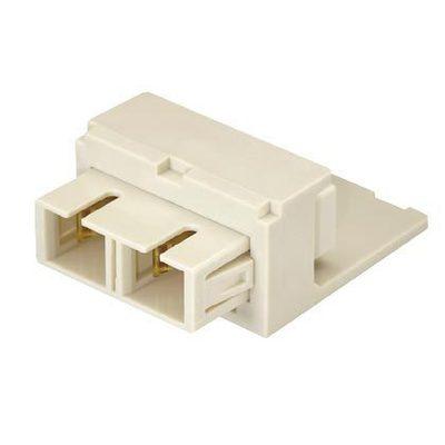 Panduit CMDEISCEI Panduit CMDEISCEI Mini-Com® Fiber Optic Adapter Module; SC Connection, 2-Fiber, Duplex Multimode, Phosphor Bronze Split Sleeve, Electric Ivory
