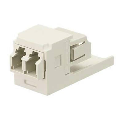 Panduit CMDJLCIW Panduit CMDJLCIW Mini-Com® Sr./Jr. Fiber Optic Adapter Module; LC Connection, 2-Fiber, SFF Duplex Multimode, Phosphor Bronze Split Sleeve, Electric Ivory
