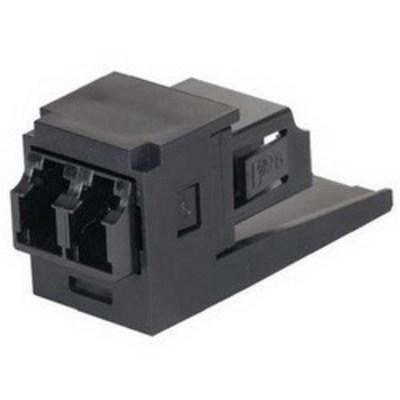 Panduit CMDSBLLCBL Panduit CMDSBLLCBL Mini-Com® Sr./Jr. Fiber Optic Adapter Module; LC Connection, 2-Fiber, SFF Duplex Multimode, Phosphor Bronze Split Sleeve, Black
