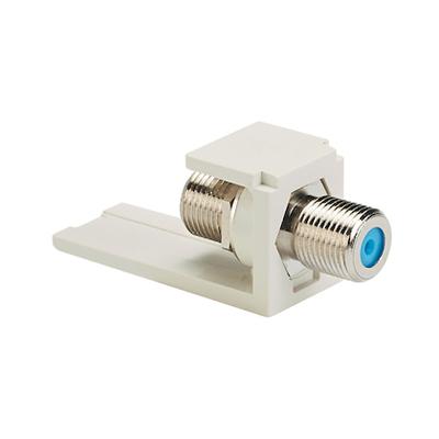 Panduit CMFIW-C Panduit CMFIW-C Mini-Com® F-Type Coupler; RG-6 and RG-59, Pass-Through, Off White