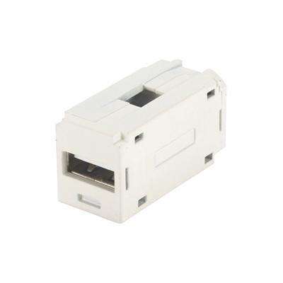 Panduit CMUSBAAIW Panduit CMUSBAAIW Straight Female x Female Mini USB Coupler Module; Glass-Filled Nylon, Off White