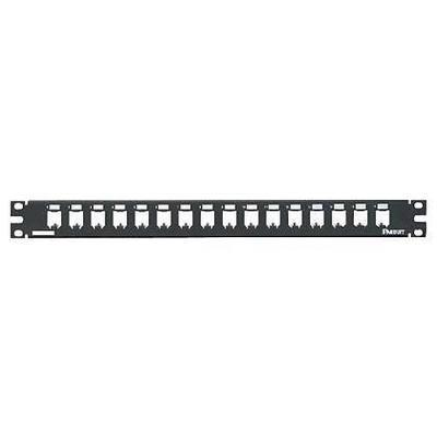 Panduit CP16BLY Panduit CP16BLY Mini-Com® Mini-Com Modular Patch Panel; 16-Port, 1-Rack Unit, Black