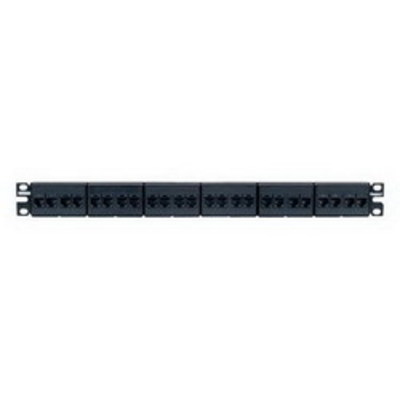 Panduit CP245E88BLY Panduit CP245E88BLY Mini-Com® TX5e™ Category 5e Coupler Patch Panel; 24-Port, 1-Rack Unit, Black