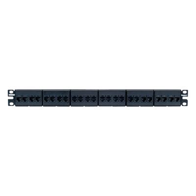 Panduit CP24688BL Panduit CP24688BL Mini-Com® TX6™ PLUS Category 6 Coupler Patch Panel; 24-Port, 1-Rack Unit, Black