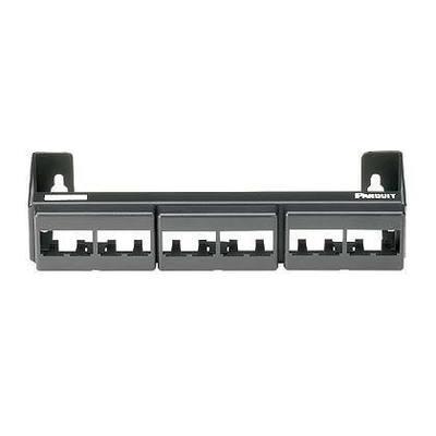 Panduit CWPP12WBL Panduit CWPP12WBL Mini-Com® Mini-Com Flat Modular Faceplate Patch Panel; Wall Mount, 12-Port, Black