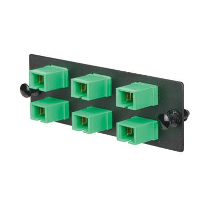 Panduit FAP6WAGSCZ Panduit FAP6WAGSCZ Opticom® SC/APC Fiber Adapter Panel; Singlemode, 6 Simplex Fibers, Green