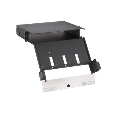 Panduit FCE2U Panduit FCE2U Opticom® Quicknet Fiber Cassette Enclosure; Rack Mount, 2-Rack Unit, Black