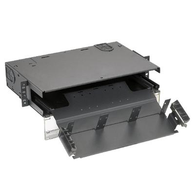 Panduit FRME2 Panduit FRME2 Opticom® Rack Mount Fiber Enclosure; 2-Rack Unit, Black