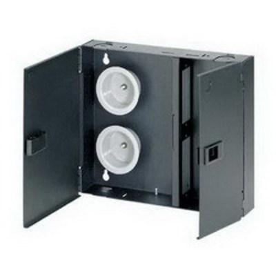 Panduit FWME2 Panduit FWME2 Opticom® Enclosed Fiber Adapter Panel; Wall Mount, Holds 2 FAP Black