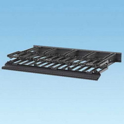 Panduit NM1 Panduit NM1 NetManager™ High Capacity Front and Rear Horizontal Cable Manager; 1-Rack Unit, Fully Molded ABS Plastic, Black