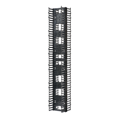 Panduit NRV10 Panduit NRV10 Netrunner High Capacity Front and Rear Cable Manager; Vertical Mount, 45-Rack Unit, Black