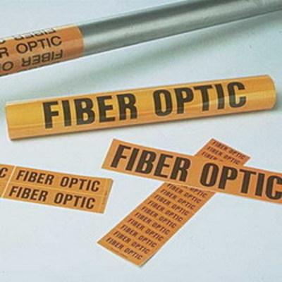 Panduit PCV-FOBY Panduit PCV-FOBY Fiber Optic Voltage Marker; Vinyl, Black On Orange
