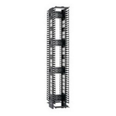 Panduit PEV12 Panduit PEV12 PatchRunner™ High Capacity Double-Sided Cable Manager; Vertical Mount, 45-Rack Unit, Black