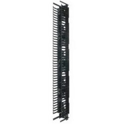 Panduit PRVF10 Panduit PRVF10 PatchRunner™ Front Vertical Cable Manager; 45-Rack Unit, Steel Back with ABS Fingers, Black