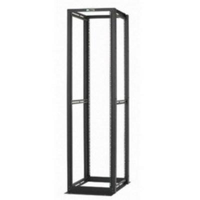 Panduit R4P36 Panduit R4P36 4 Post EIA Rack; 45 Module Spaces, 2500 lb, Steel, Black