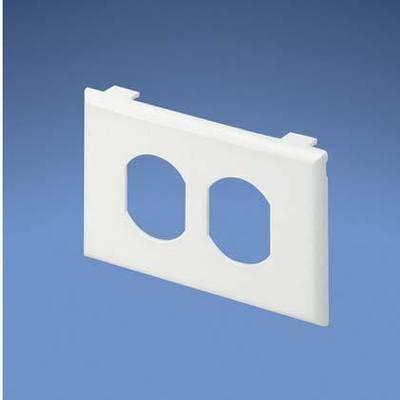Panduit T70PIW Panduit T70PIW Pan-Way® 1-Gang Faceplate; (1) Duplex Receptacle, Plastic, Off White