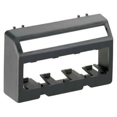 Panduit UICFFP4BL Panduit UICFFP4BL Mini-Co Ultimate ID Flat Faceplate; (4) UTP, STP, Fiber-Optic, A/V Port, Black