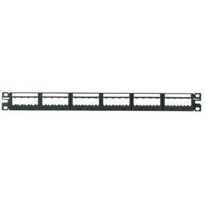 Panduit UICMPP24BLY Panduit UICMPP24BLY Ultimate ID® Mini-Com Flat Patch Panel; 24-Port, 1-Rack Unit, Black