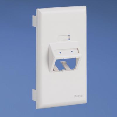 Panduit UIT70FV2IW Panduit UIT70FV2IW Mini-Com® Ultimate ID 1-Gang Sloped Faceplate; PVC, Off White