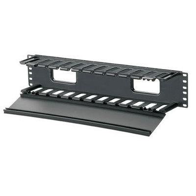 Panduit WMPF1E Panduit WMPF1E PatchLink™ Front Horizontal Cable Manager; Panel Mount, Plastic, Black, Powder-Coated