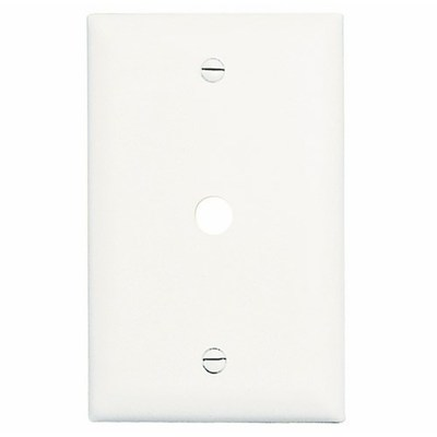 Pass & Seymour Inc TP11W Pass & Seymour TP11-W TradeMaster® Standard Size 1-Gang Wallplate; Box Mount, Nylon, White