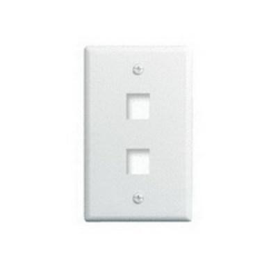 Pass & Seymour Inc WP3402-WH-25 On-Q WP3402-WH-25 1-Gang Wallplate; Wall Box, (2) Receptacles, (2) Keystones, High Impact Flame Retardant Plastic, White