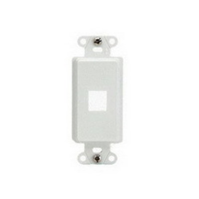 Pass & Seymour Inc WP3411-WH On-Q WP3411-WH 1-Gang Decorator Outlet Strap; Wall Box, (1) Receptacle, (1) Keystone, High Impact Flame Retardant Plastic, White