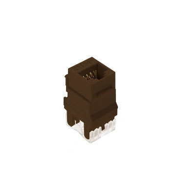 Pass & Seymour Inc WP3450-BR On-Q WP3450-BR Category 5e RJ45 Keystone Connector; Vertical Mount, 8P8C, Brown