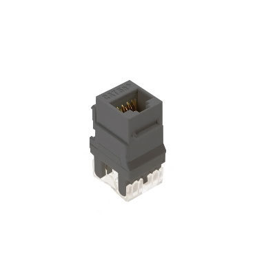 Pass & Seymour Inc WP3450-GY On-Q WP3450-GY Category 5e RJ45 Keystone Connector; Vertical Mount, 8P8C, Gray