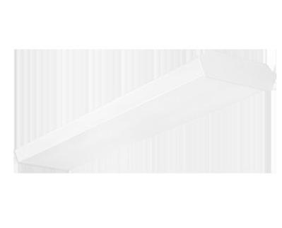 RAB Lighting GUS4-36YNW/D10/E2 GUS4-36YNW/D10/E2 RAB SURF WRAP 4FT 36W EMGENCY 35K WH DIM
