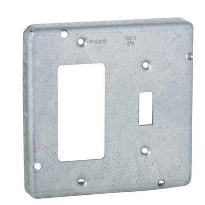 RACO 858 858 RACO 4-11/16 COVER TWO DEVICE - SWITCH / GFCI