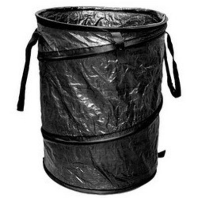 Rack-A-Tiers 51000 Rack-A-Tiers 51000 Collapsible Exploding Garbage Can; 24 Inch Dia x 19 Inch Height Open, 1-1/2 Inch Collapsed, Polytuf Fabric, Black
