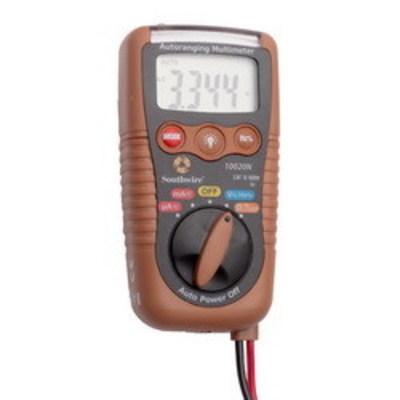 Southwire 58291140 Southwire 10020N 3-in-1 Pocket Auto-Ranging Multimeter; 600 Volt AC, 600 Volt DC, 100 - 600 Volt AC Non-Contact, 200 Milli-Amp AC, 200 Milli-Amp DC, 40 mega-ohm