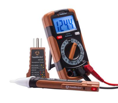 Southwire 58291240 Southwire 10035K Electrical Test Kit; 600 Volt AC/DC, 10 Amp, 2000 kilo-ohm