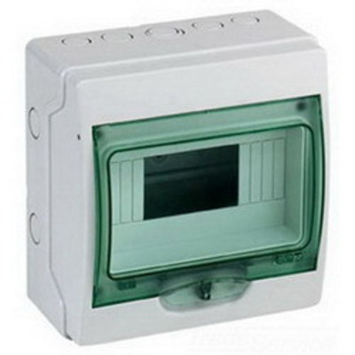 Square D by Schneider Electric 13959 Schneider Electric / Square D 13959 Multi 9™ Kaedra Single Row 8 Module Weatherproof Mini Enclosure; Styrene
