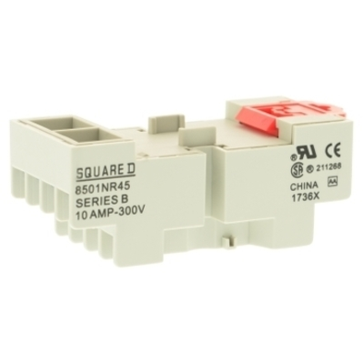 Square D by Schneider Electric 8501NR51 Schneider Electric / Square D  8501NR51 Relay Socket; 600 Volt, 10 Amp, Type N, 8 Pin