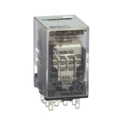 Square D by Schneider Electric 8501RSD14V51 Schneider Electric 8501RSD14V51 Relay 240VAC 5AMP Type R options