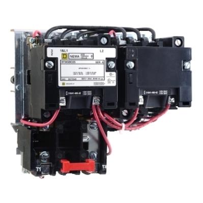 Square D by Schneider Electric 8736SCG8V02H30S 8736SCG8V02H30S SQD NEMA Motor Starter, Type S, reversing, Size 1, 27A, 3 pole, horizontal, 120 VAC coil, Motor Logic SSOLR, NEMA 1