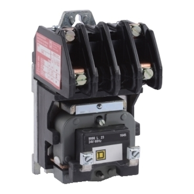 Square D by Schneider Electric 8903LO20V03 8903LO20V03 SQD Contactor, Type L, multipole lighting, electrically held, 30A, 2 pole, 600 V, 220/240 VAC 50/60 Hz coil, open style