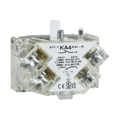 Square D by Schneider Electric 9001KA42 Schneider Electric 9001KA42 30MM Contact Block 1NO Logic Reed