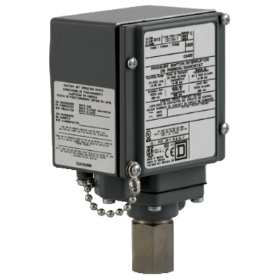 Square D by Schneider Electric 9012GCW1G21 9012GCW1G21 SQD pressure switch 9012G - adjustable scale - 2 thresholds - 20 to 1000 psig