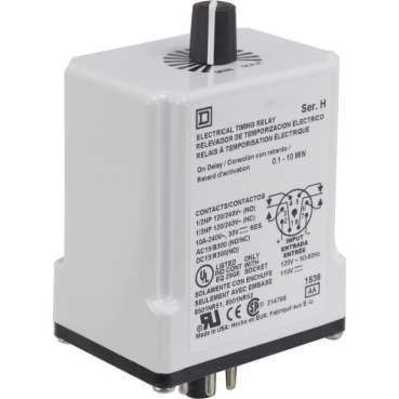Square D by Schneider Electric 9050JCK17V14 9050JCK17V14 SQD Timing Relay, Type JCK, plug In, on delay, adjustable time, 0.3 to 30 minutes, 10A, 240 VAC, 24 VAC/DC