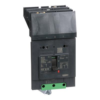 Square D by Schneider Electric BJA36110 BJA36110 SQD PowerPact B Circuit Breaker, 110A, 3P, 600Y/347V AC, 25kA at 600Y/347 UL, I-Line