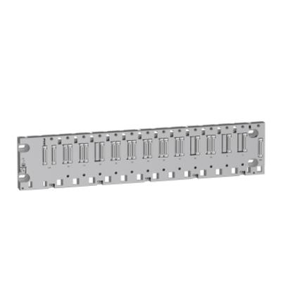 Square D by Schneider Electric BMEXBP1200 Schneider Electric / Square D BMEXBP1200 8 Bus x and 4 Bus x Ethernet Backplane Ruggedized Rack; 24/3.3 Volt DC