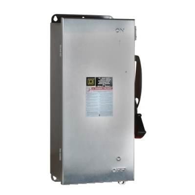 Square D by Schneider Electric H363DS Schneider Electric H363DS Switch Fusible Hd 100A 3P Stainless