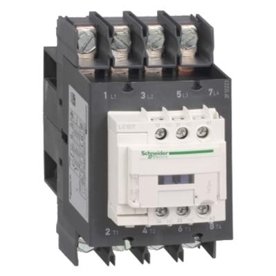 Square D by Schneider Electric LC1DT80AF7 LC1DT80AF7 SQD TeSys D contactor - 4P(4 NO) - AC-1 - <= 440 V 80 A - 110 V AC 50/60 Hz coil