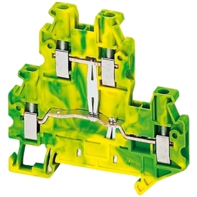 Square D by Schneider Electric NSYTRV24DPE NSYTRV24DPE SQD SCREW TERMINAL, DOUBLE LEVEL, PROTECTIVE EARTH, 4 POINTS, 2,5MM, GRE