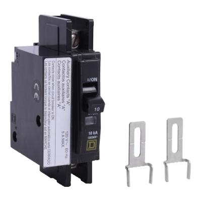 Square D by Schneider Electric QOU1201200 QOU1201200 SQD Mini circuit breaker, QOU, 20A, 1 pole, 120/240 VAC, 10kA, auxiliary switch